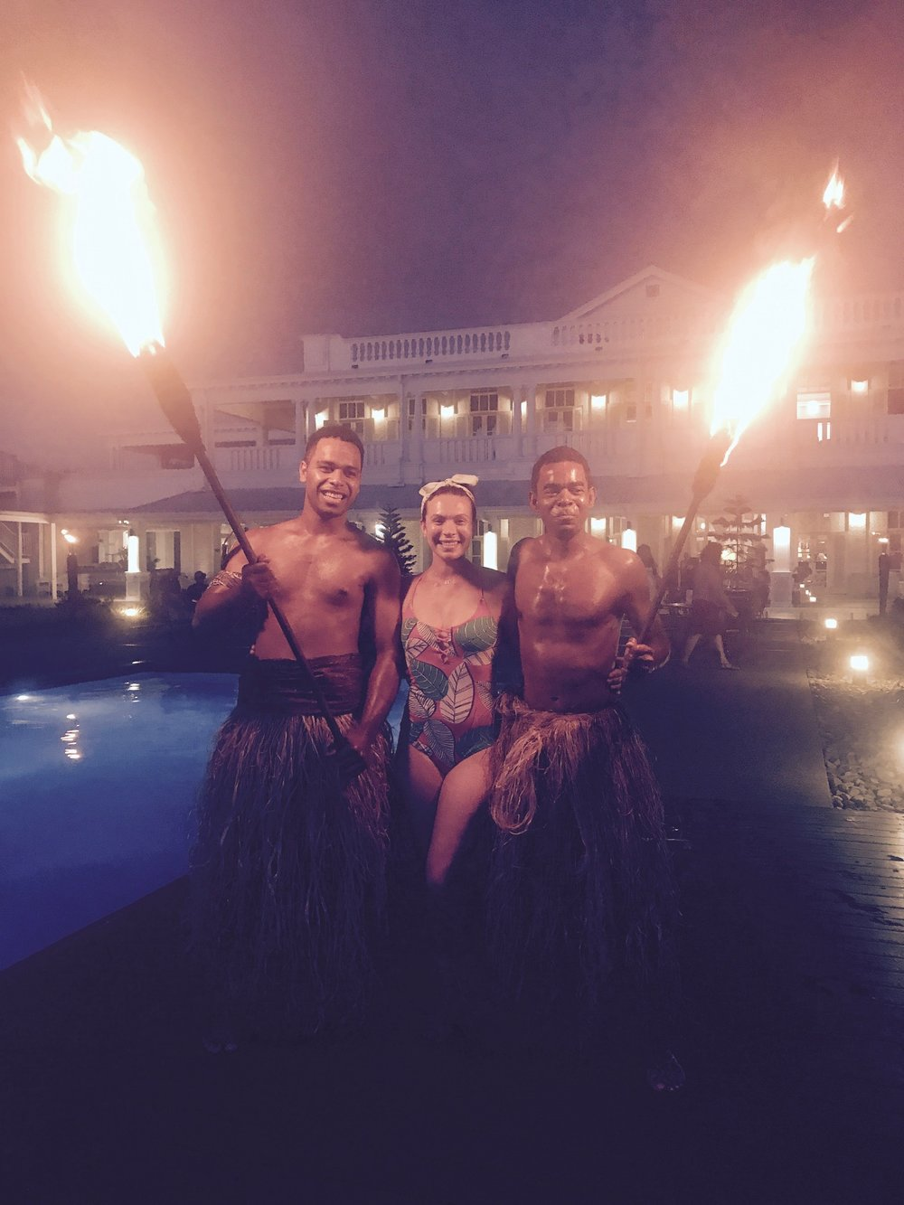 Tiki torch lighting ceremony! Goodbye Suva...