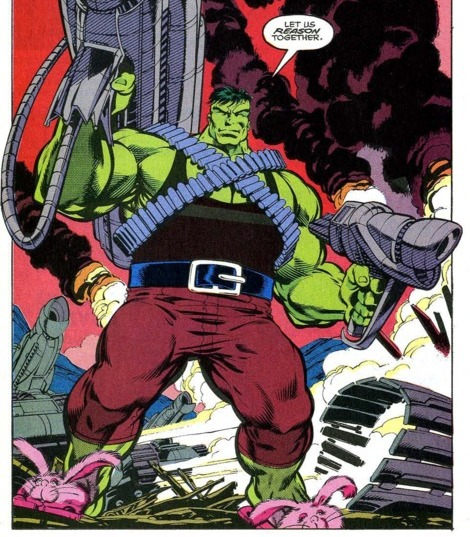 Hulk in bunny slippers from 1992 comic