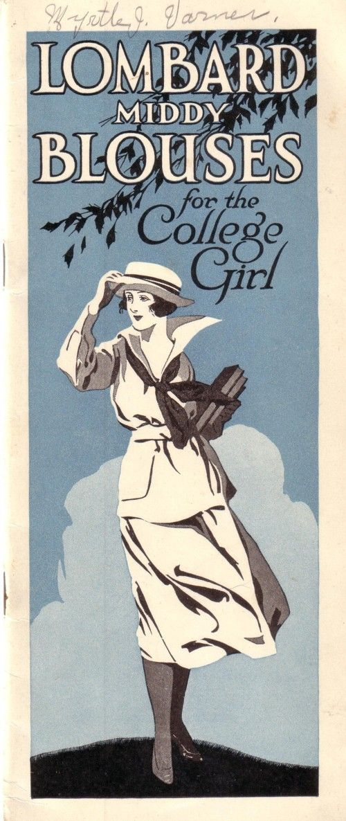 Early 1900s middy ad