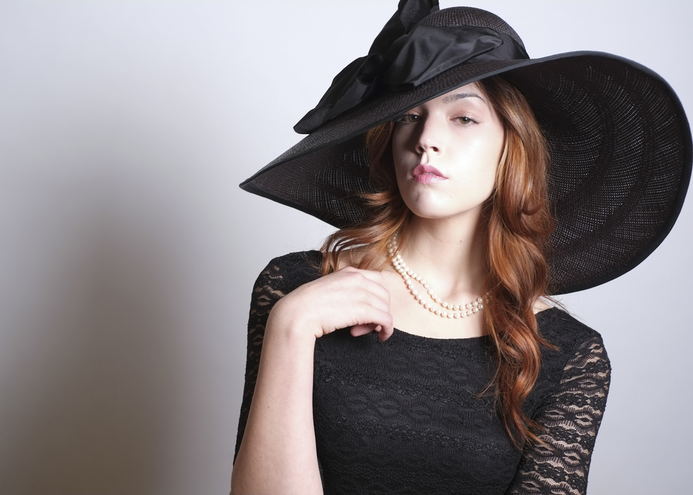 Fanny and June Spring 2014 Hat - Black Picture Hat