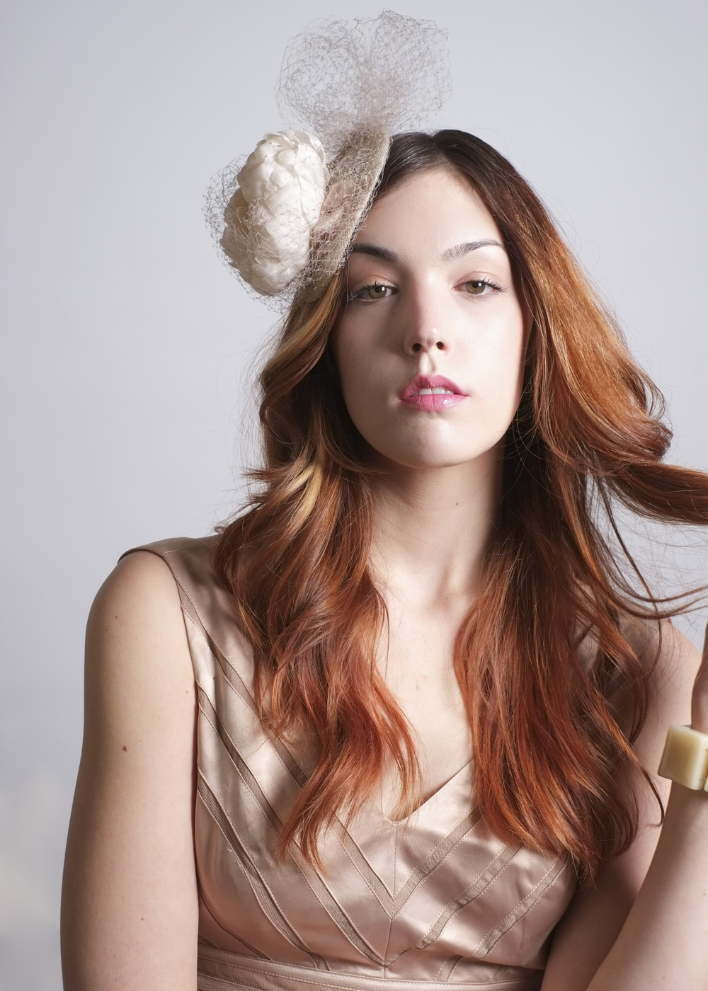 Fanny and June Spring 2014 Hat - Fascinator with vintage veil