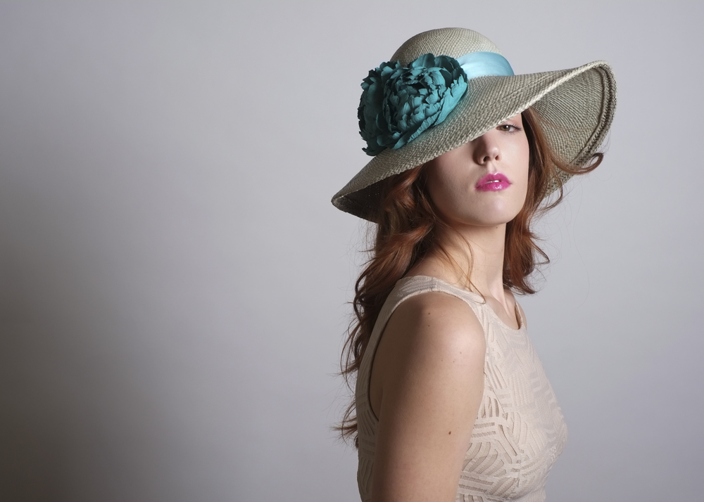 Fanny and June Spring 2014 Hat - Turquoise Picture Hat