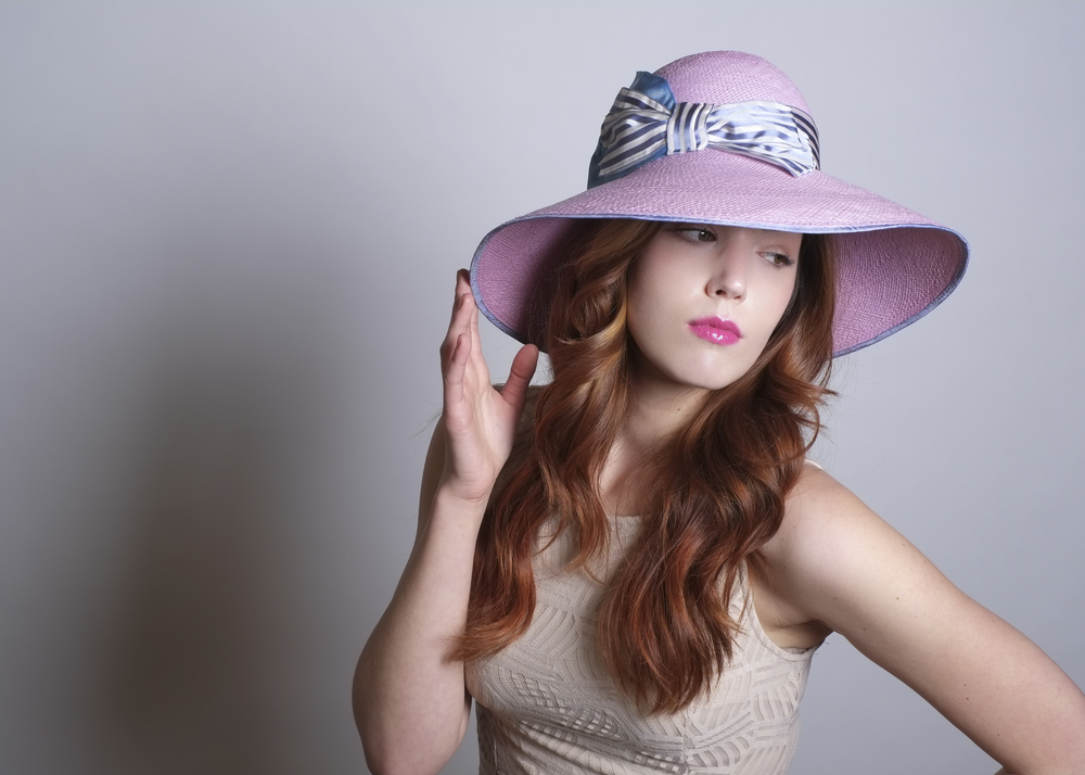 Fanny and June Spring 2014 Hat - Lavender Picture Hat