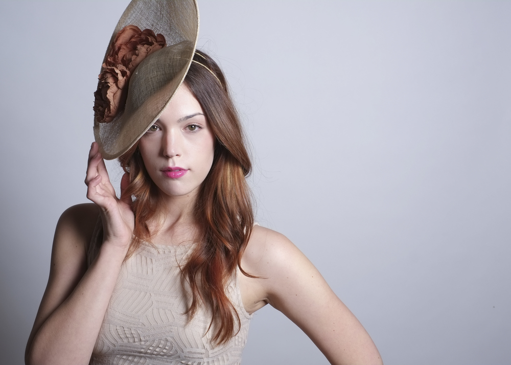 Fanny and June Spring 2014 Hat - Sinamay Saucer - Natural with Rust