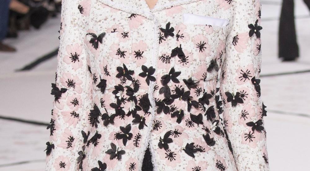 Silk embroidered flower jacket by Giambattista Valli