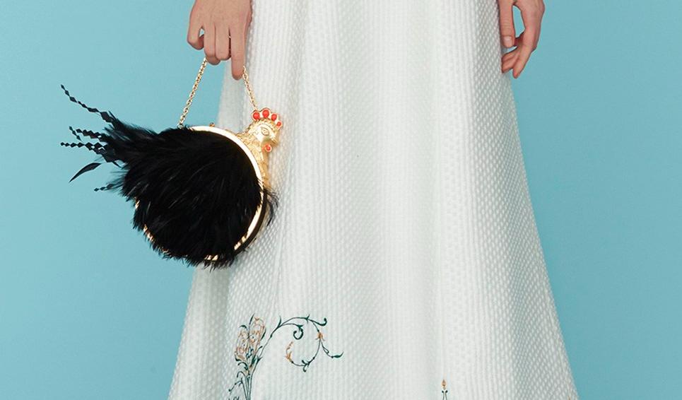 Those chicken purses by Ulyana Sergeenko