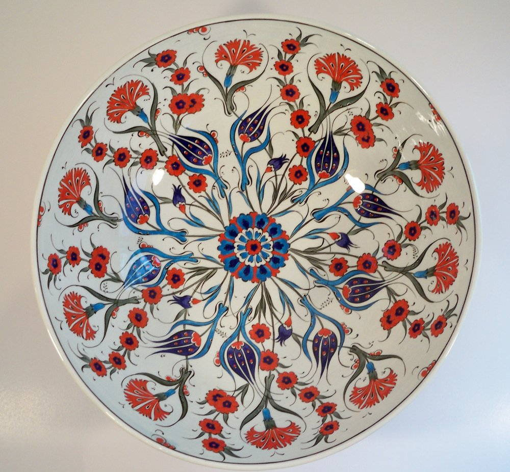 """Tulips and Chrysanthemums"", By Iznik pottery)"