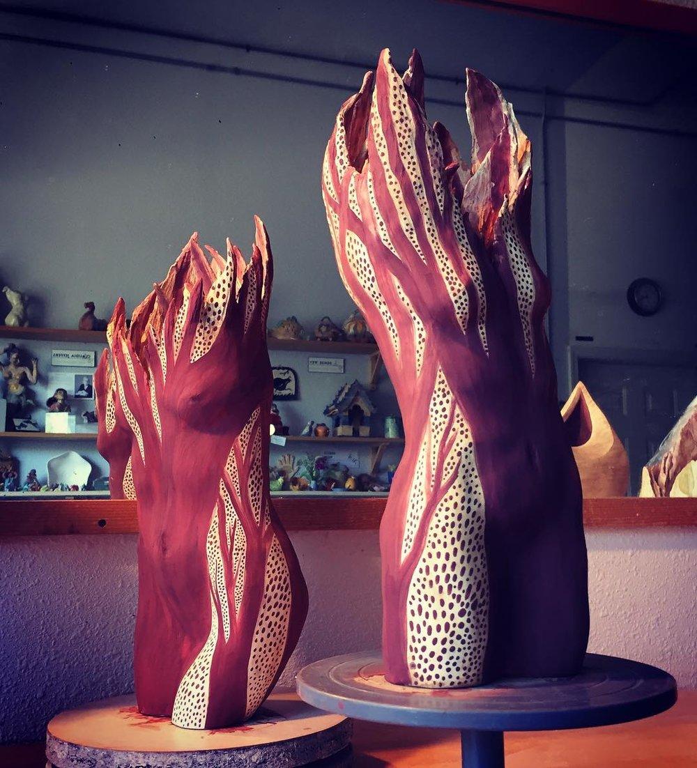 Amanda Paoletti.Figurative Trees.Studio Shot2.jpg