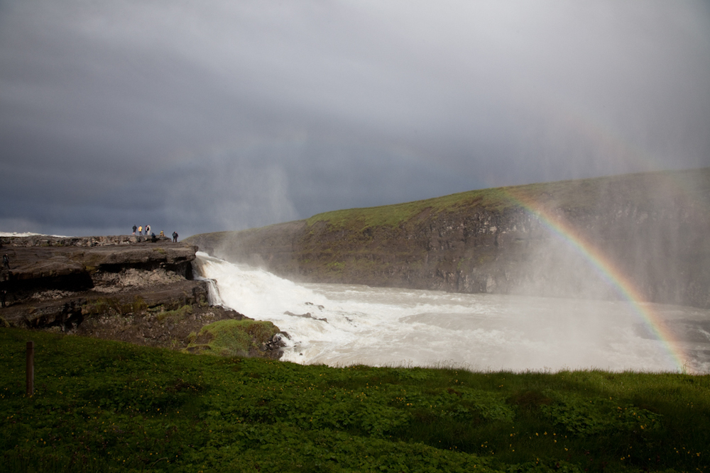 Rainbow Over Gullfoss // Iceland