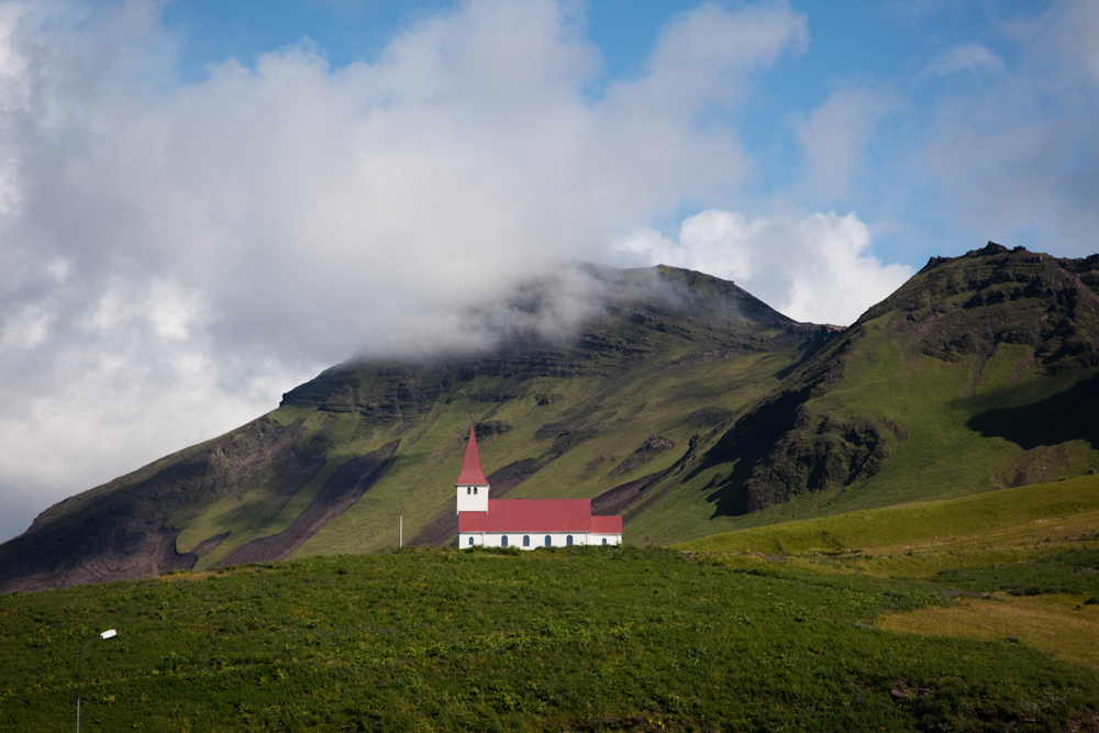Red Roofed Church // Vik, Iceland