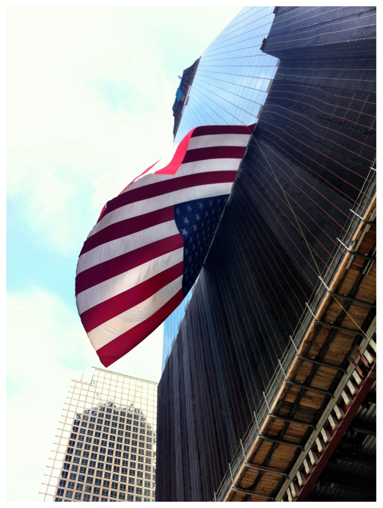 8:46am, sunday 9/11/11   one world trade center, NYC