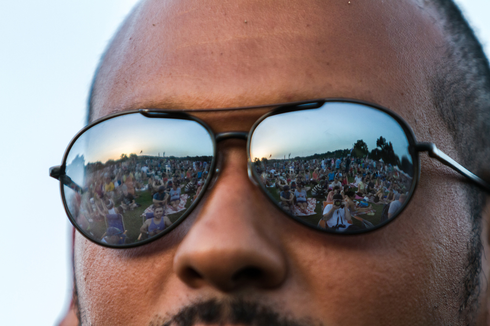 crowd reflection from KGSR Blues on the Green 2013 © Grease Man Photography ©