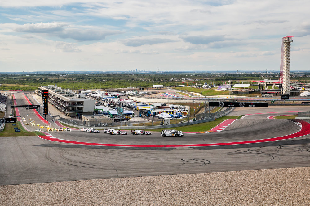 View from Turn 1 during the starting lap of FIA WEC 6hrs of Circuit of the Americas 2015 © Grease Man Photography ©