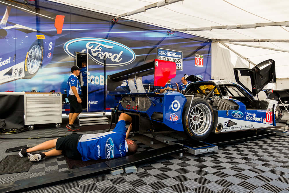 The Ganassi Racing Ford Ecoboost paddock during Lone Star Le Mans weekend 2015 © Grease Man Photography ©