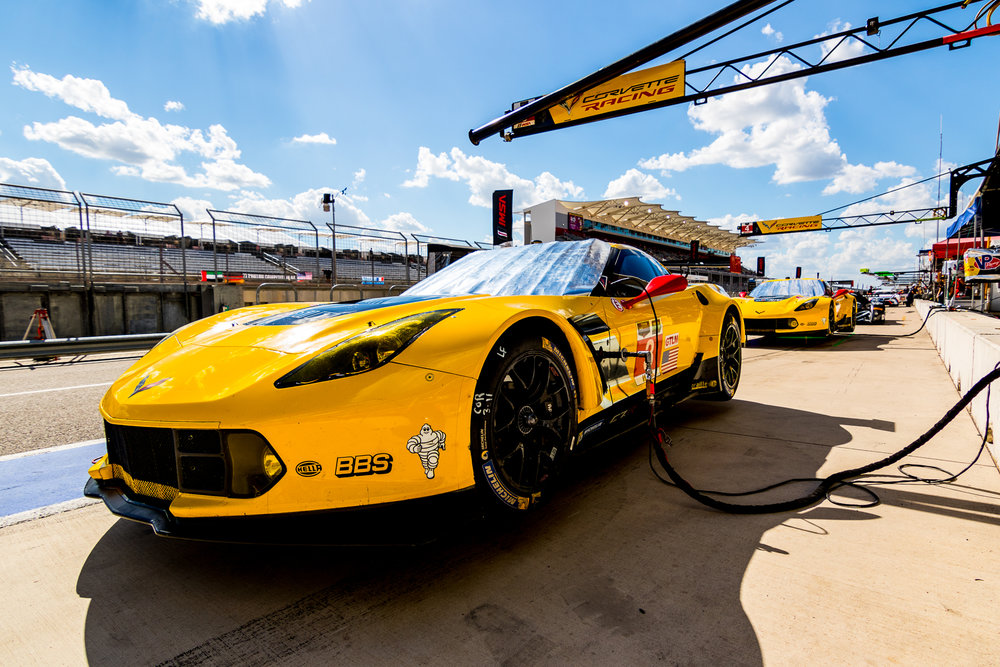 Corvette Racing sister cars take a breather during Lone Star Le Mans weekend 2015 © Grease Man Photography ©
