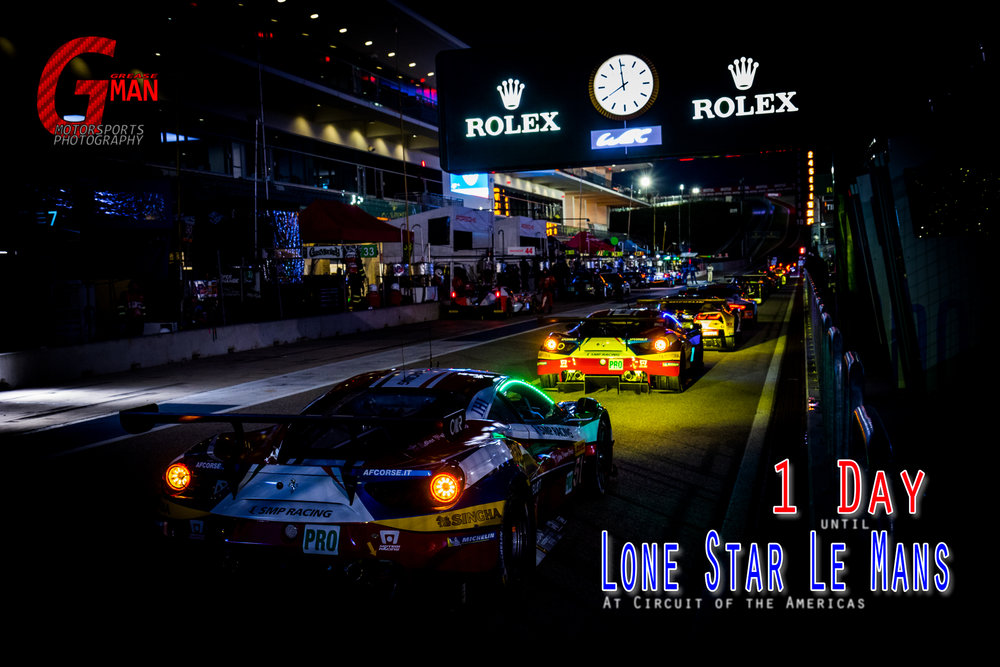 Drivers lined up just before the start of FIA WEC Practice #2 today at Circuit of the Americas © Grease Man Photography ©
