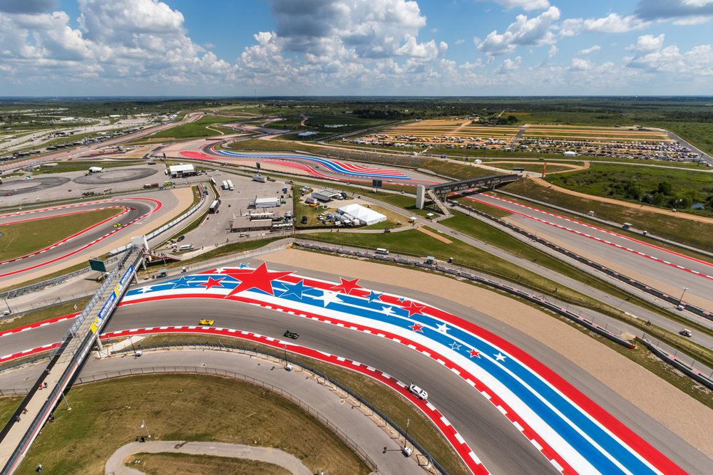 A look down at Circuit of the Americas from the Tower...How many IMSA cars can you spot?
