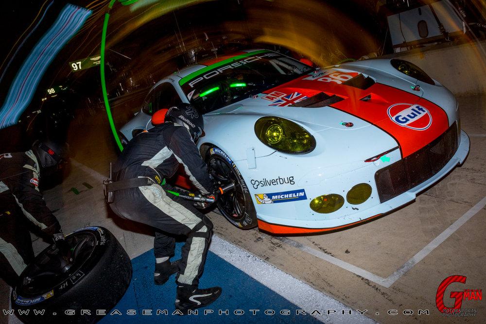 A look at the FIA WEC No. 86 Gulf Racing  Porsche  911 RSR LMGTE AM driven by Michael WAINWRIGHT, Adam CARROLL & Ben BARKER