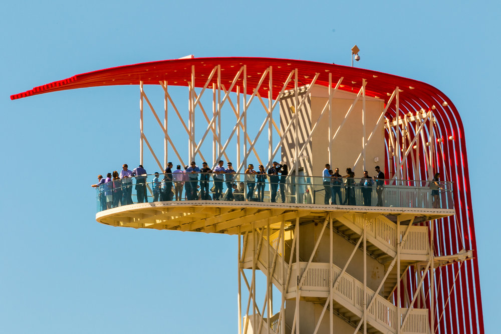 The COTA Tower is sure to see a record crowd this weekend during F1 USGP