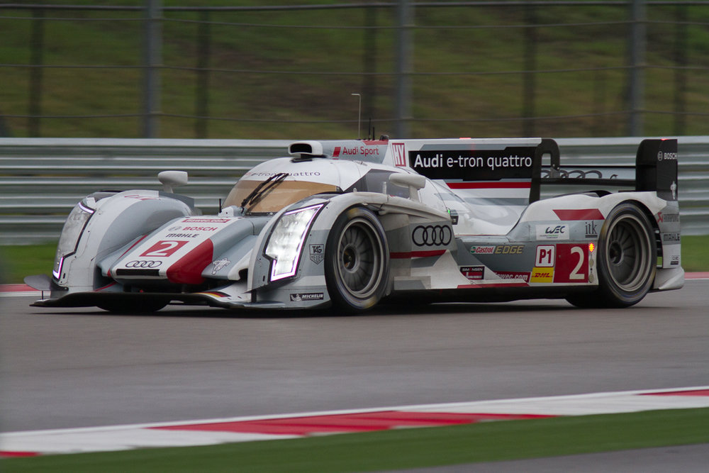 The Audi Sport R18 e-tron quattro during 2013 ALMS weekend at Circuit of the Americas