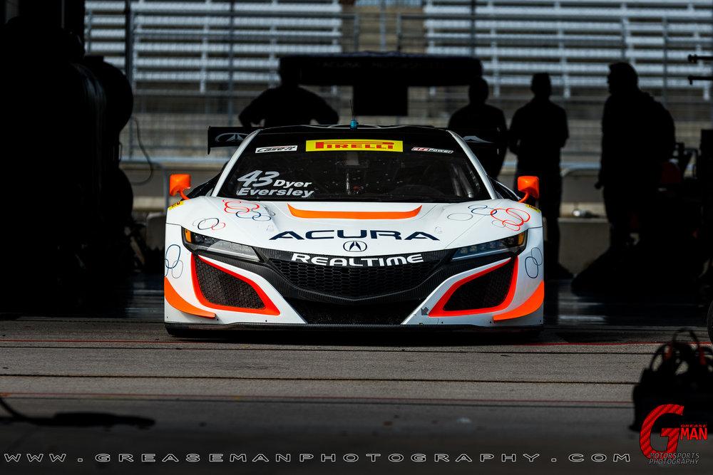 No43 RealTime Racing Acura NSX GT3