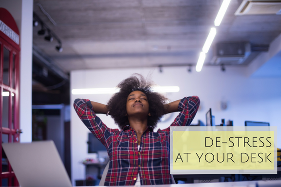 Work From Om®'s most popular workshop, De-Stress At Your Desk is a great introduction to mindfulness, meditation and body awareness as stress-management tools for busy professionals.