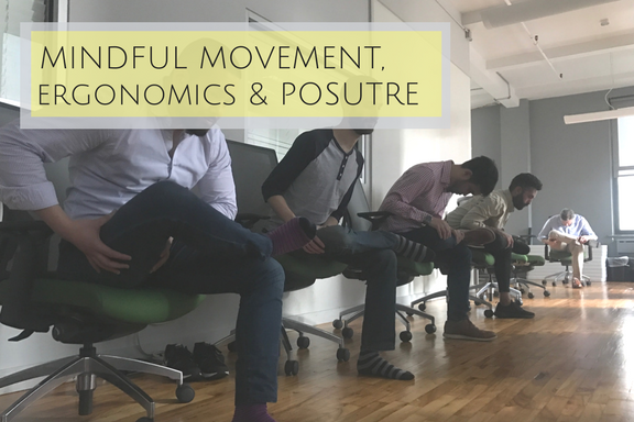 This refreshing workshop examines how our bodies respond to stress, from tension holding patterns to repetitive interactions with everyday office objects, furniture and devices.