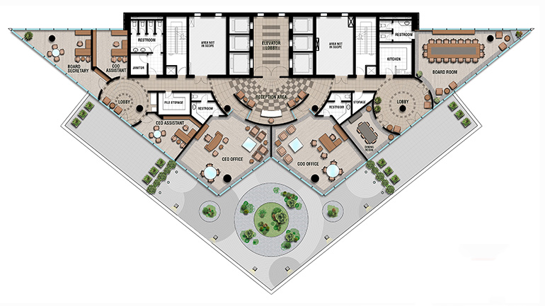 Executive Offices Floorplan