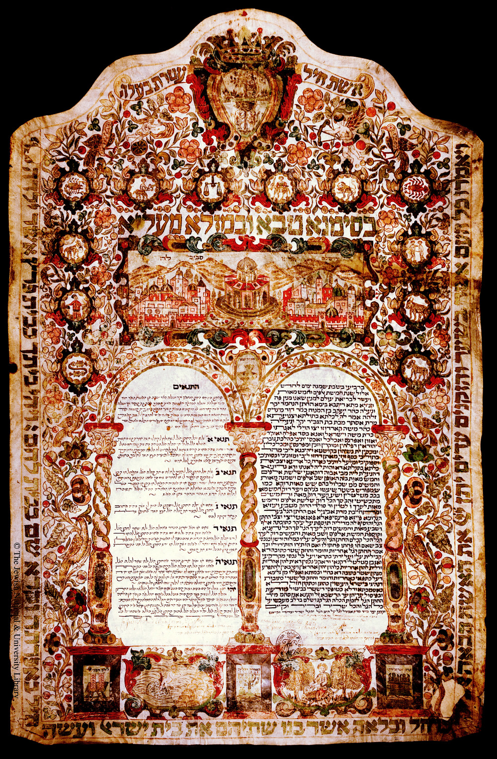 A historical Ketubah from Venice