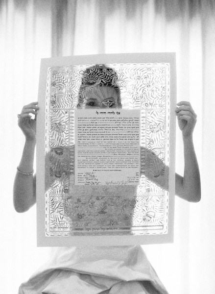 Bride Holding Birds of Paradise Ketubah
