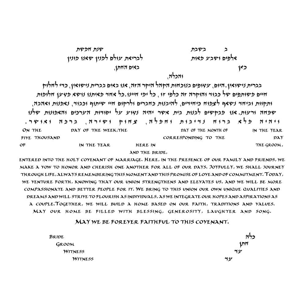 For circular Ketubah designs