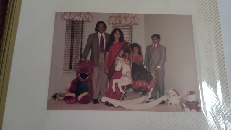 Yes, we liked to match. Yes, that's a life size Barney, Yes, I still have that rocking horse and ride it from time to time.