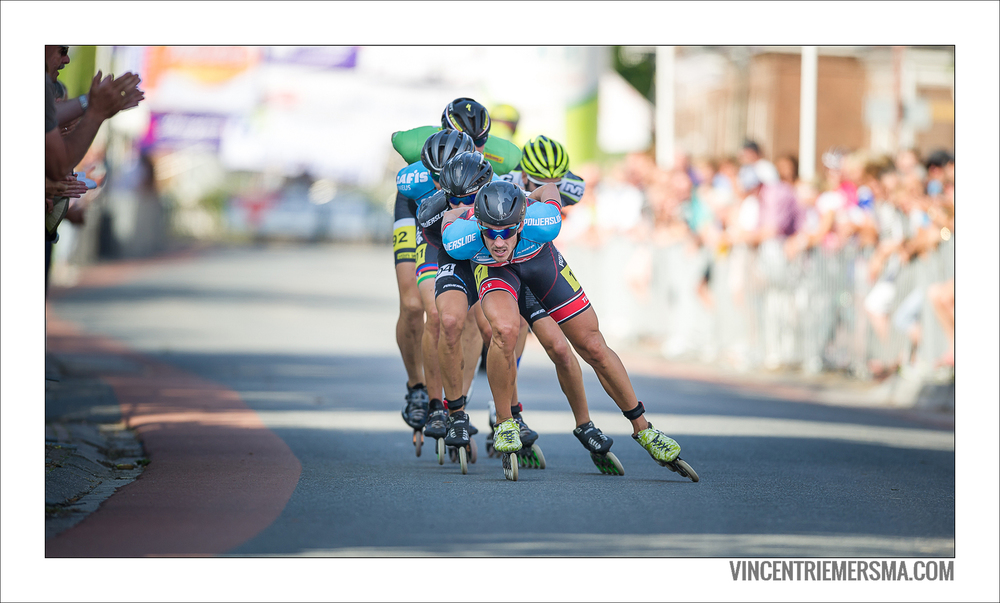 Ingmar Berga pulling the leading group