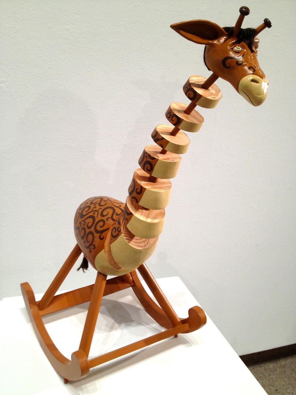 """""""Giraffing Horse""""   32""""h x 16""""w x 14""""d"""