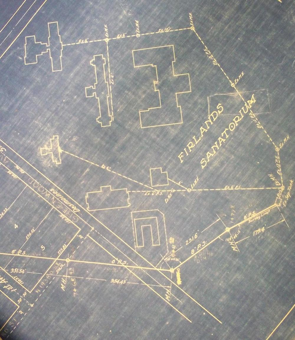 Blueprint of Firland Sanatorium