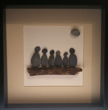 Irish stone from Waterford - Personalised family portrait