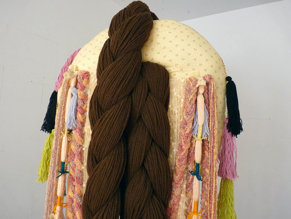 Omega Female, 2012, Acrylic yarn, cotton, steel, 72 x 24 x 24 inches