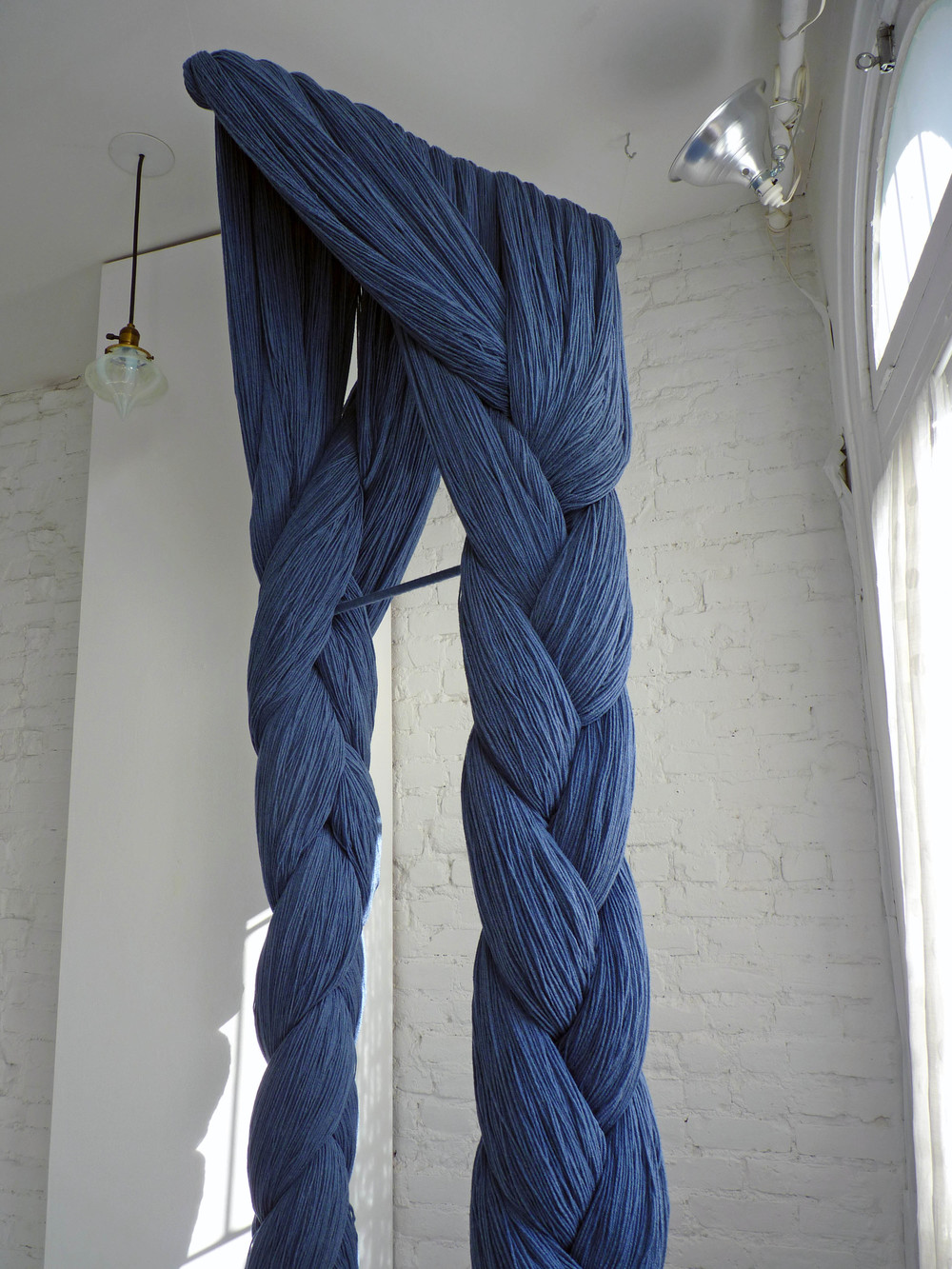 Laura, 2005-11, Acrylic Yarn, hardware, 3 x 4 x 9 feet (Detail)