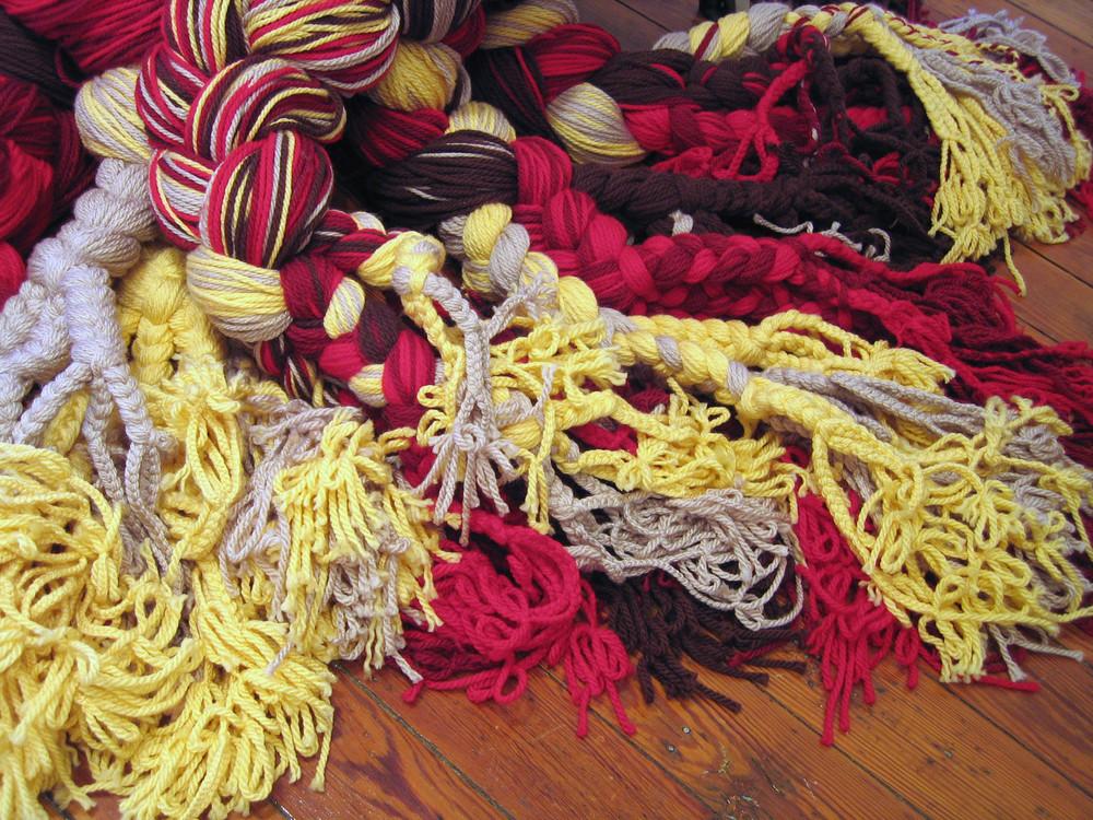 Mandelbroot Sisters, 2006, Acrylic yarn, 5' x 6' (Detail)