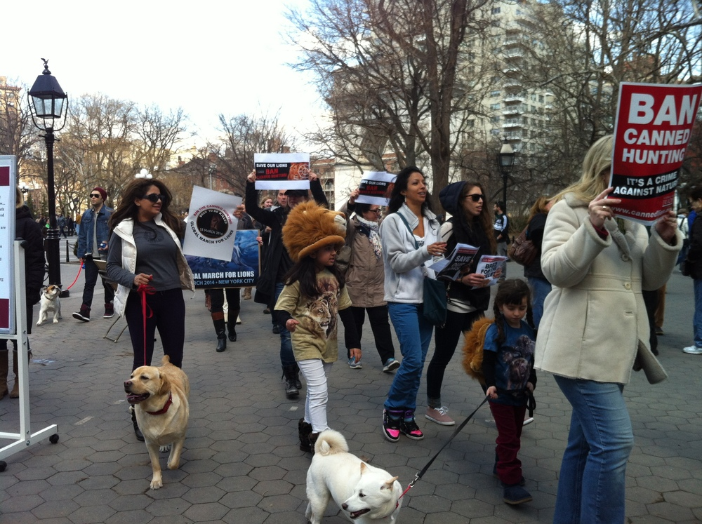 Even kids and dogs joined in for NYC's March!