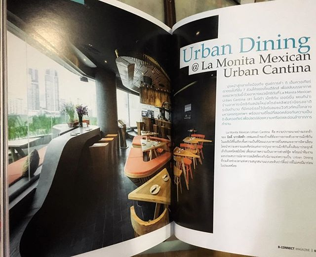 Our EmQuartier branch got featured in B-Connect Magazine 🙏🏽🙏🏽🙏🏽 . . #mexican #restaurant #bangkok #emquartier #emdistrict #food #foodie #foodlover #interiordesign #magazine #thailand #dinner