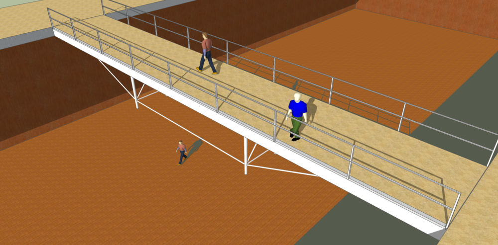 Walkways are susceptible to walking-induced vibration,