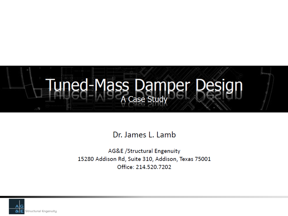 PDF: Tuned-Mass Damper Design - A Case Study