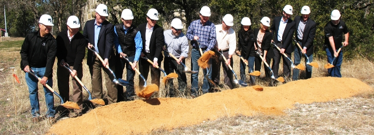 Check out some scenes from the groundbreaking ceremony--complete with silver shovels and plenty of sunshine!