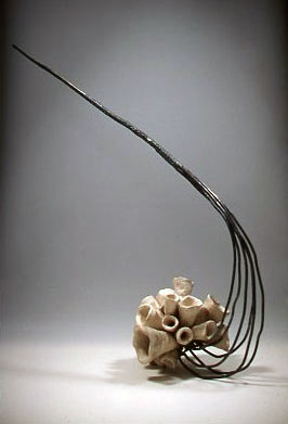 2.  Untitled, 2005, ceramics, steel, 12 x 60.  Jennifer Santos.jpg