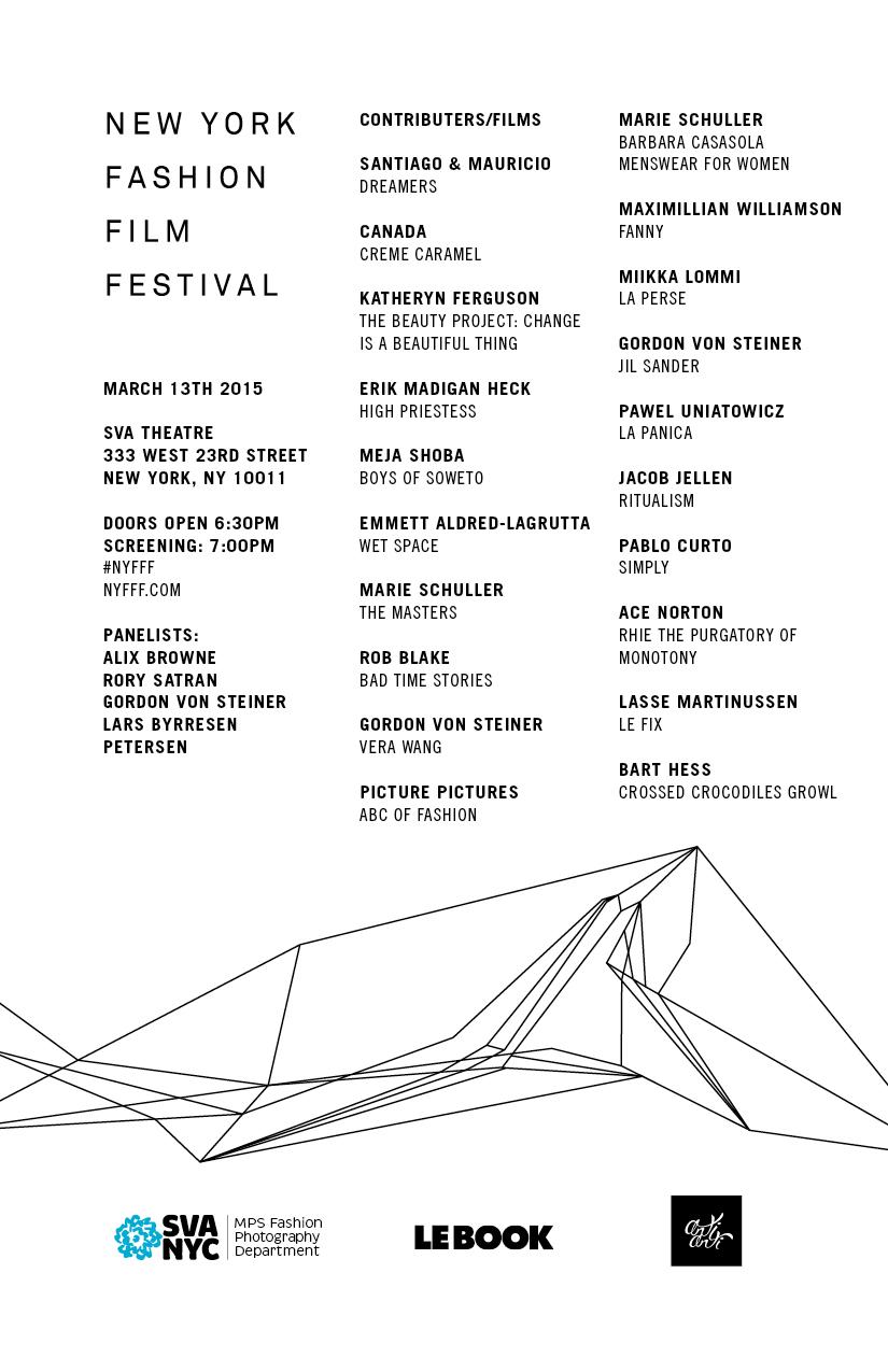 NYFFF Program 2015