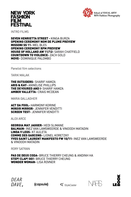 NYFFF 2011 program