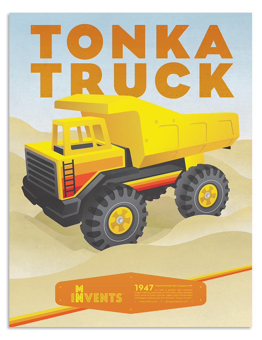 "1947 - Mound Metalcraft Company, MN In 1947, a garden tool company began making metal toys. In the 1950's, they changed their name to Tonka Toys Inc. (after Lake Minnetonka) and began making the now famous ""Tonka Trucks""."