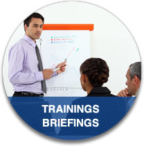 Trainings and briefings