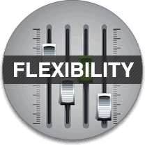 Flexibility - our system works the way you work